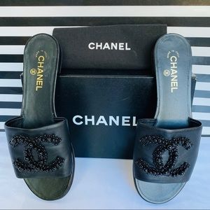 "CHANEL ""CC"" Beaded Mule"